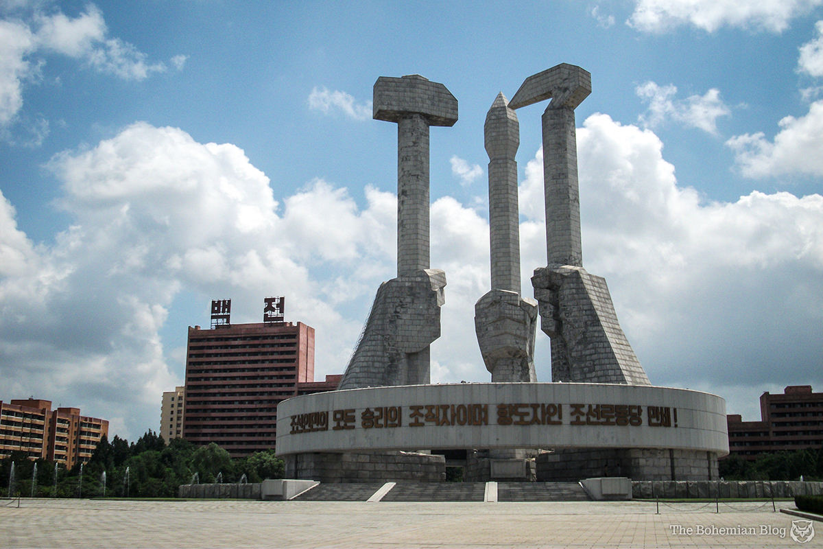 The Monument to Party Founding, Pyongyang.