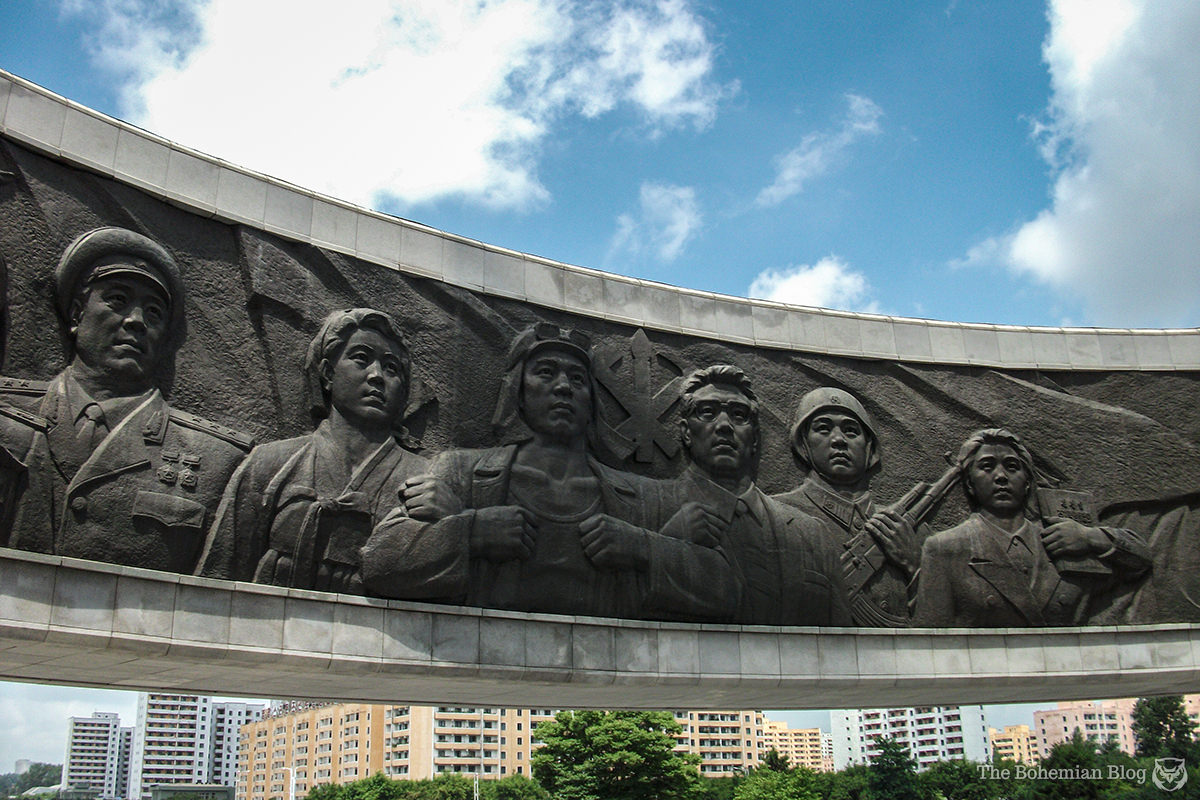 The Monument to Party Founding, Pyongyang, DPRK.