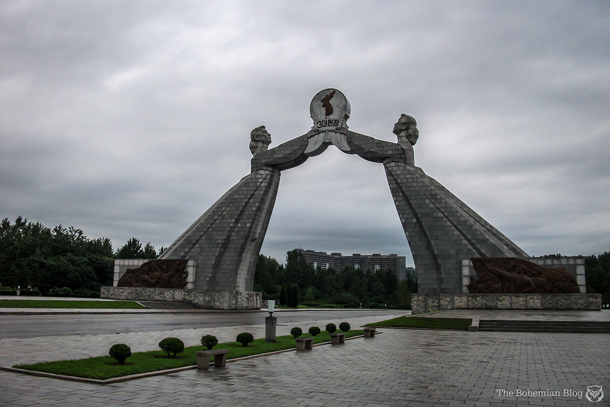 Arch of Reunification (Monument to the Three-Point Charter for National Reunification), Pyongyang.