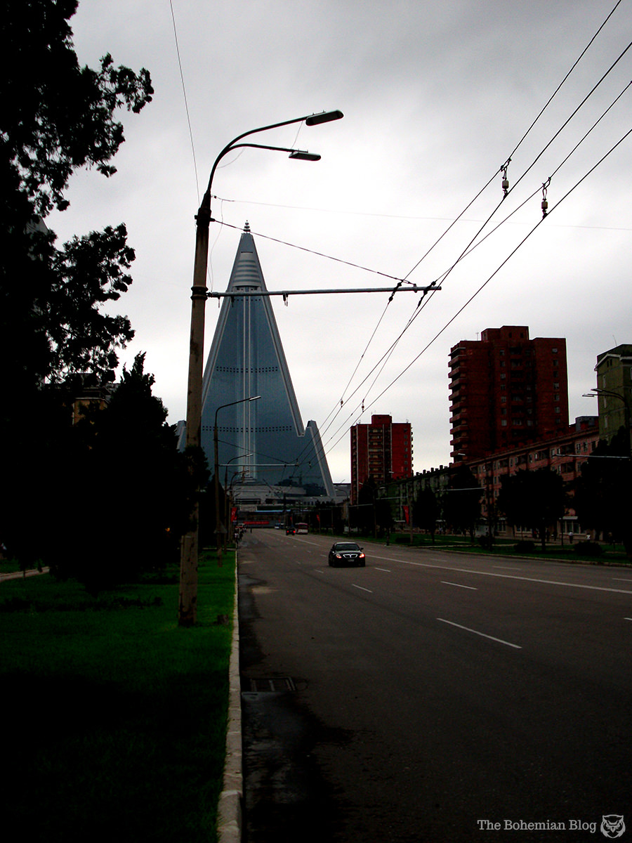 The Ryugyong Hotel, Pyongyang, North Korea.