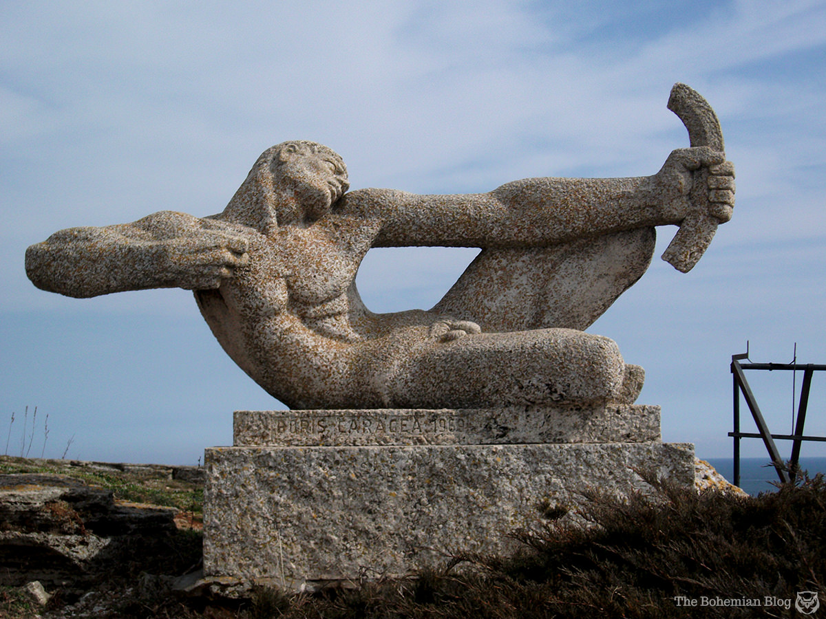 The archer monument at Cape Kaliakra, Bulgaria.