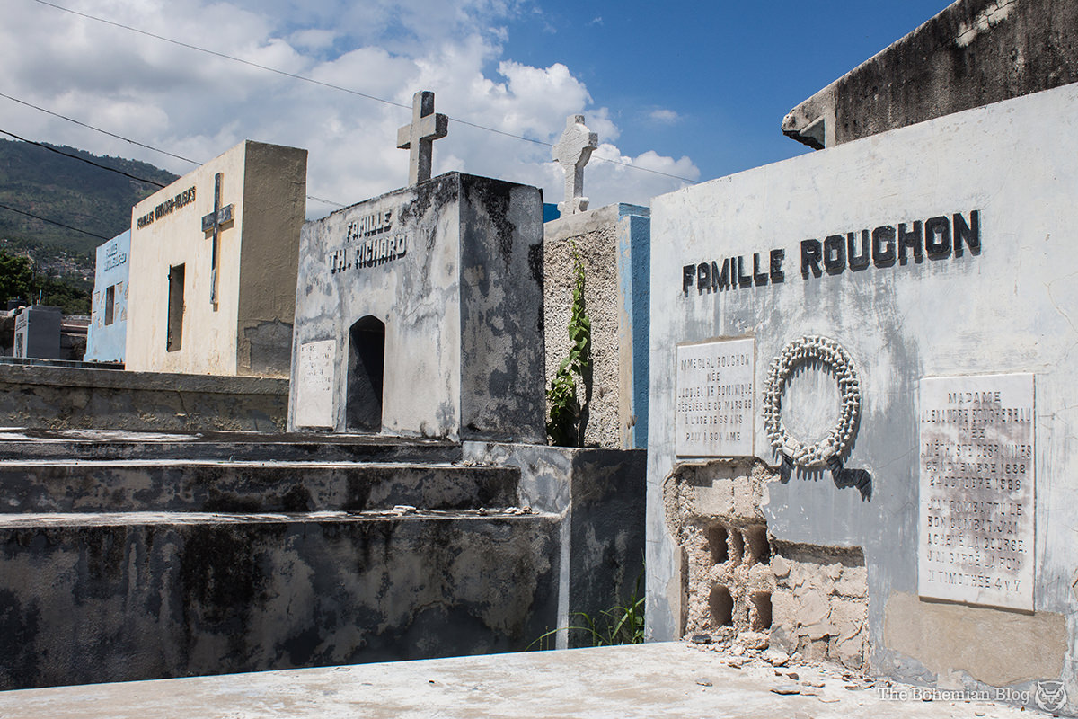 Family tombs inside the main cemetery of Port-au-Prince.