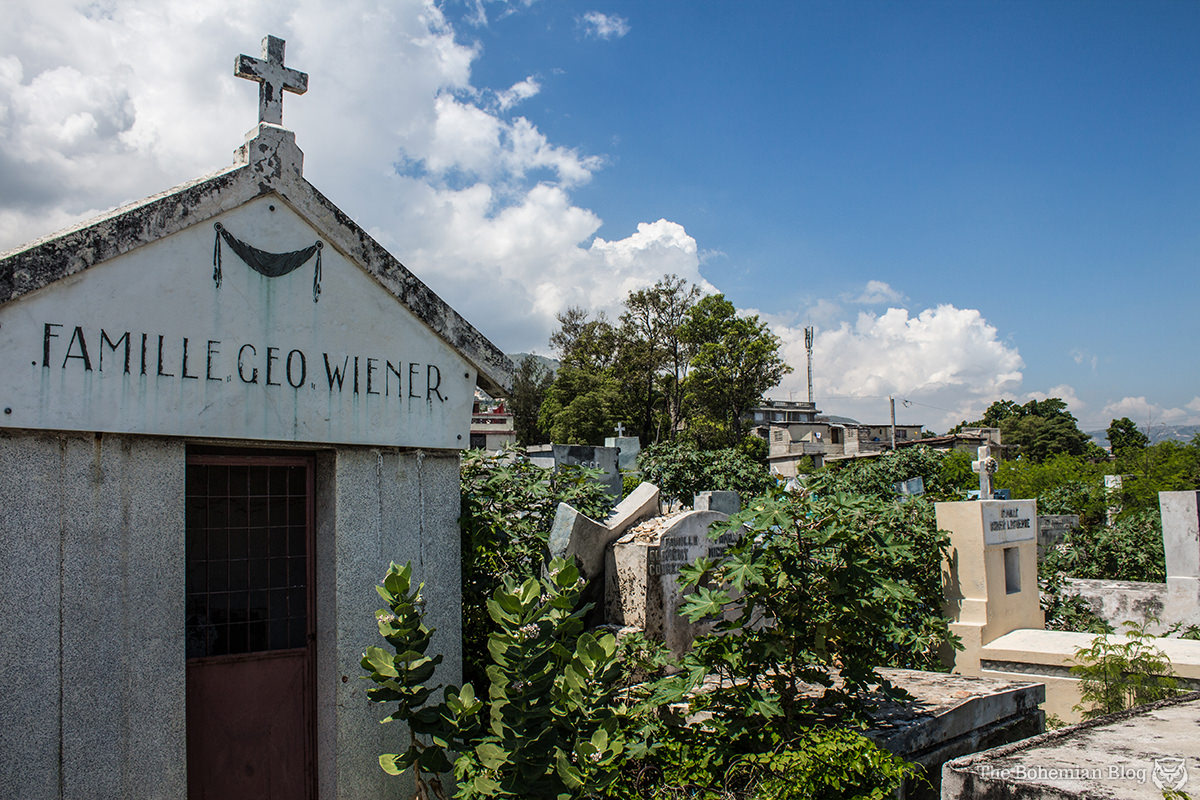 'Geo Wiener' is a major coffee export company in Haiti. This family crypt at the Grand Cemetery bears the same name.