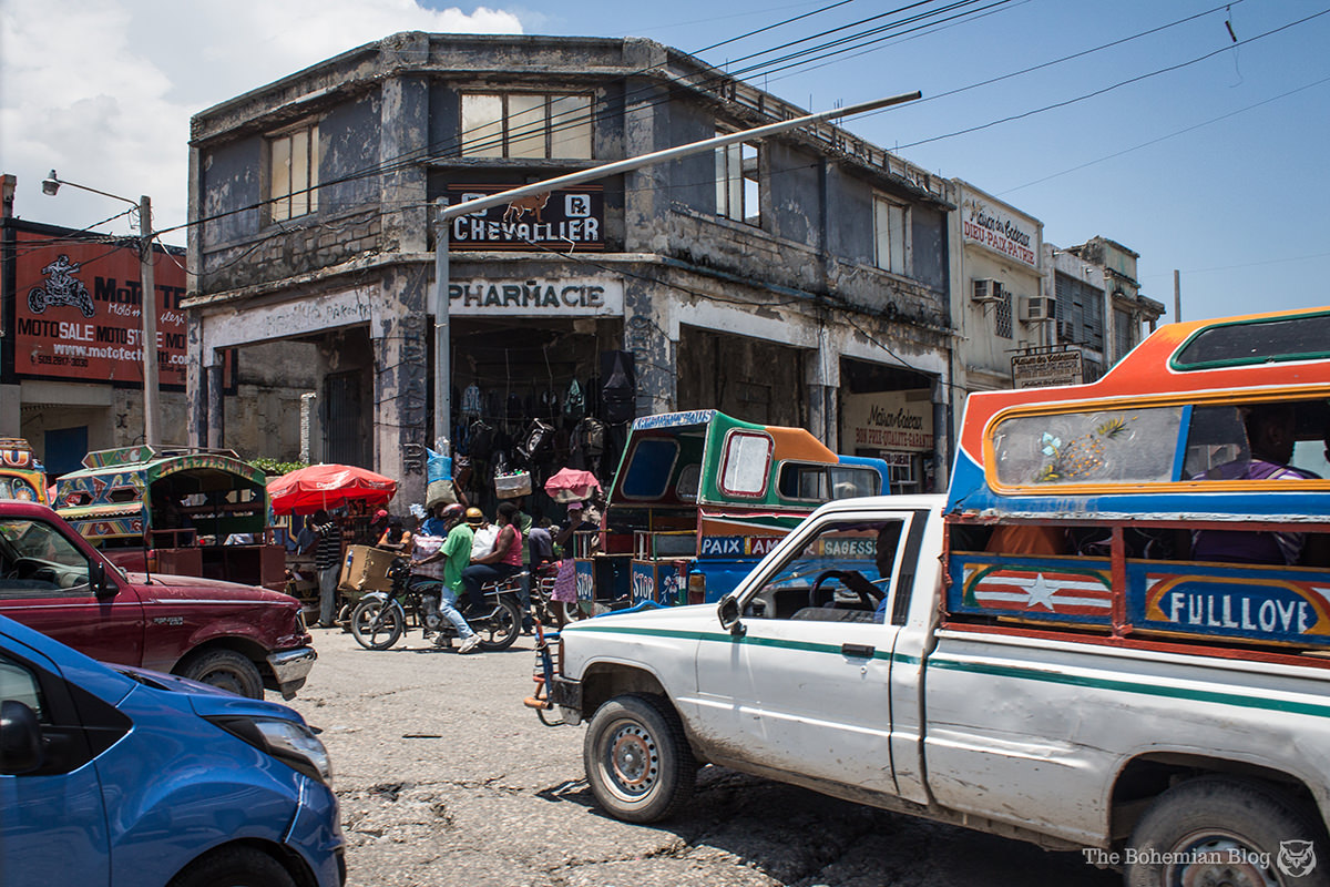 A hectic street junction in downtown Port-au-Prince.