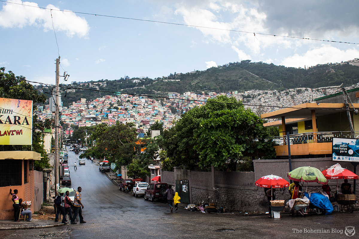 A colourful view of the Pétion-Ville suburb. Port-au-Prince, Haiti.