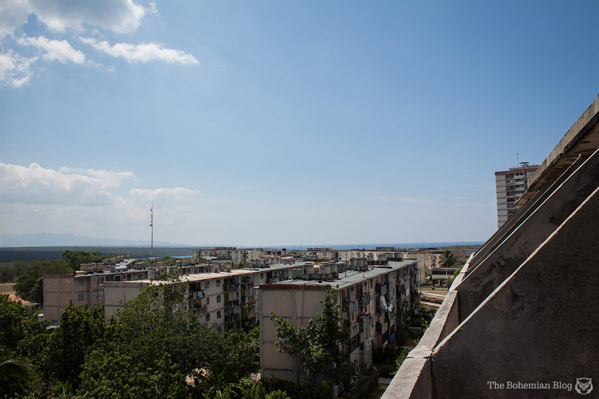 View from the balcony of a spacious residential complex that never got finished. Ciudad Nuclear, Cuba.