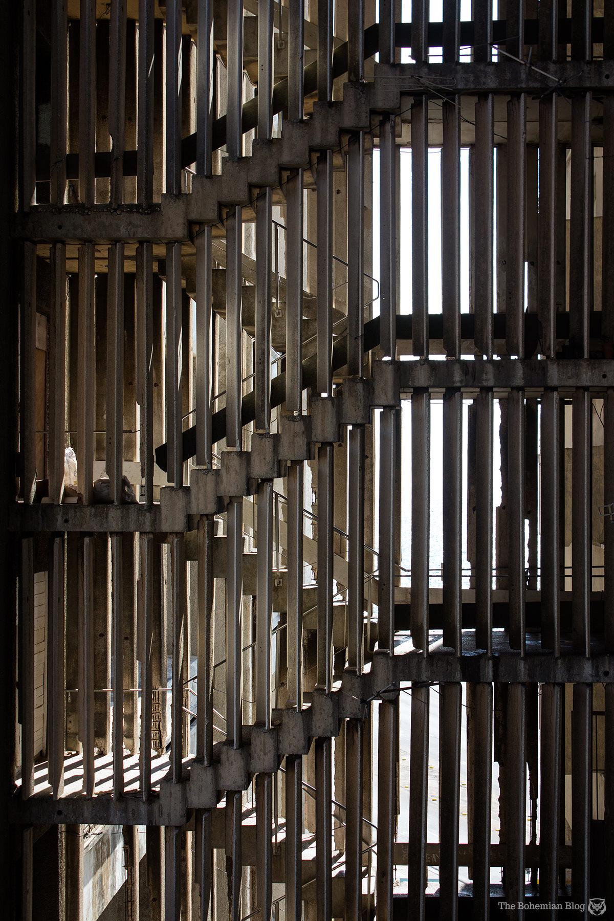 Concrete stairwells at the Edificio Girón – Havana, Cuba.