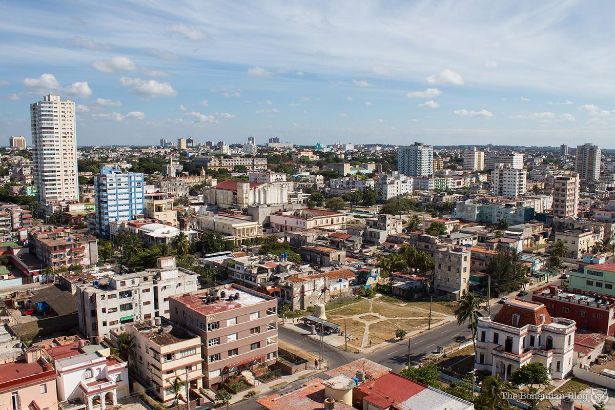 Havana's Vedado district – as seen from floor 16 of the Edificio Girón.