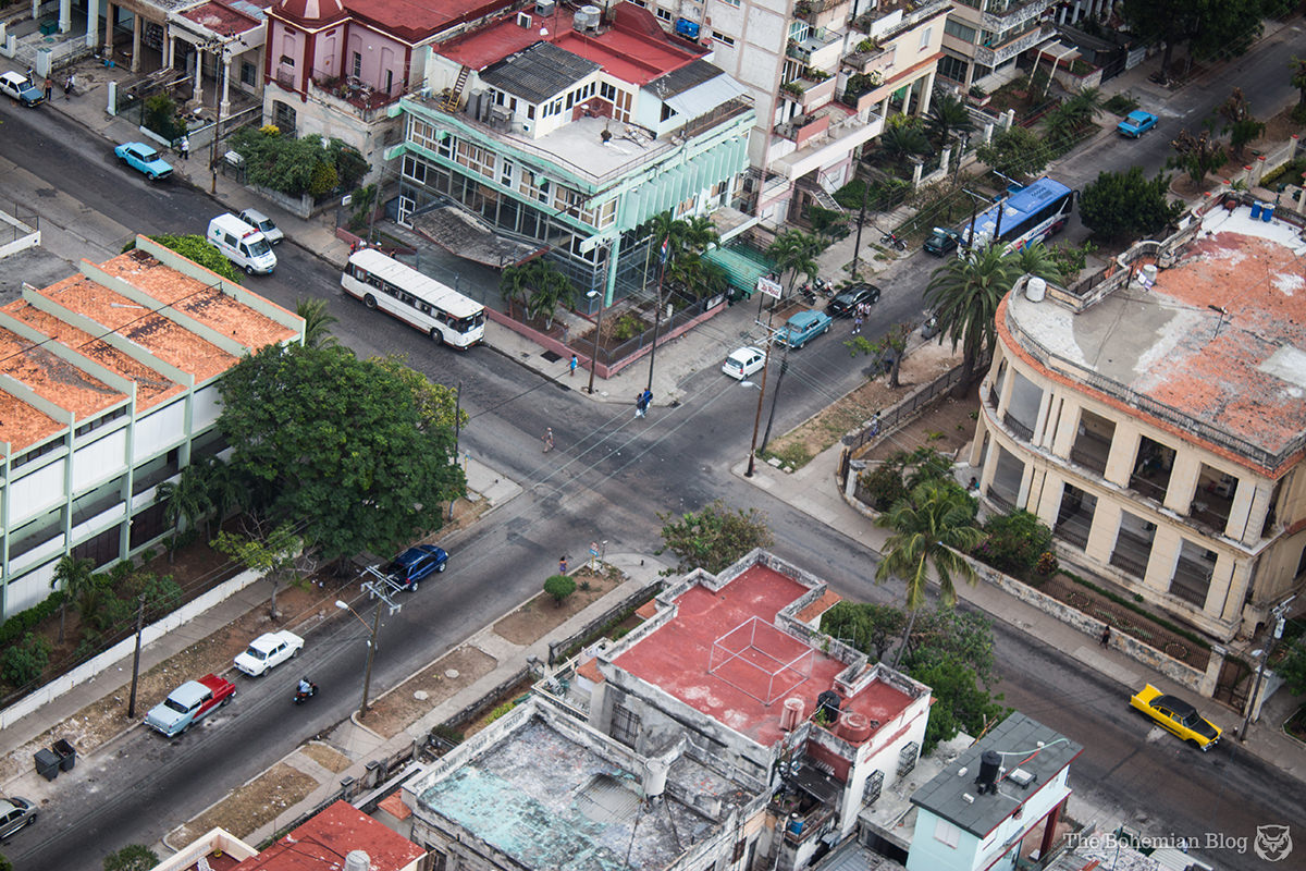 A bird's eye view of the Vedado district in Havana.