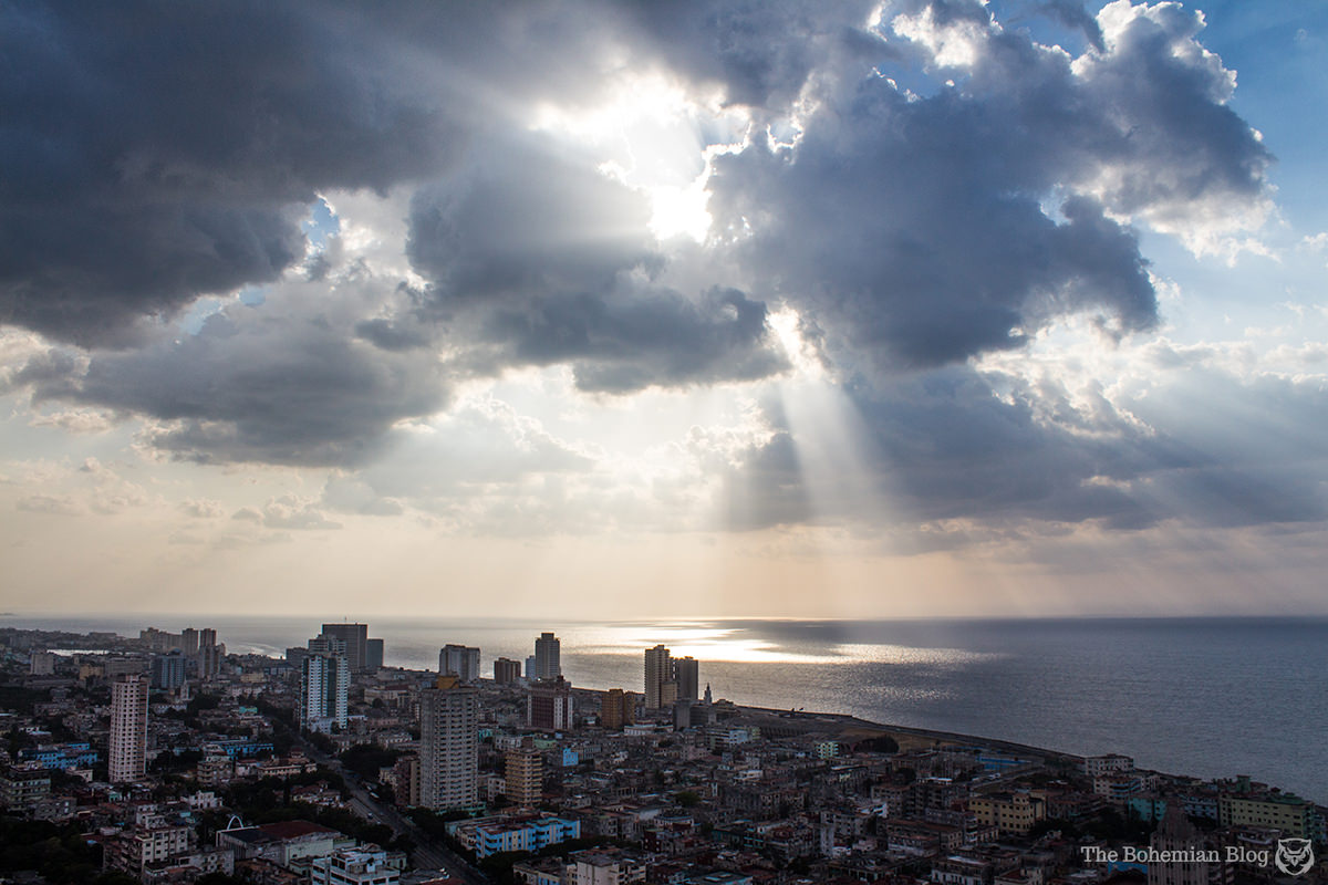 Looking out across the Caribbean, from the 33rd floor of the FOCSA Building in Havana.