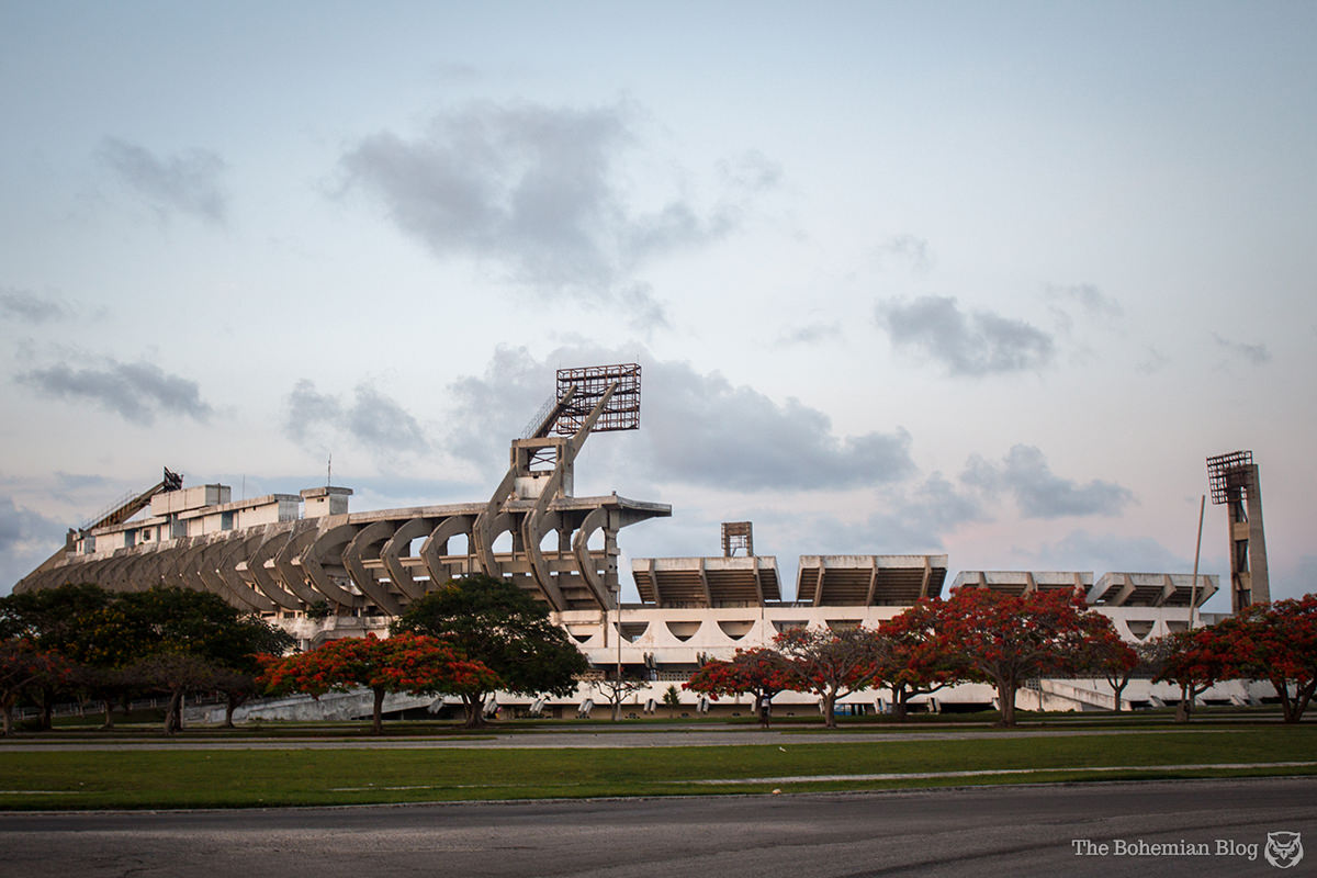 The Estadio Panamericano, located at Cojimar near Havana, Cuba.