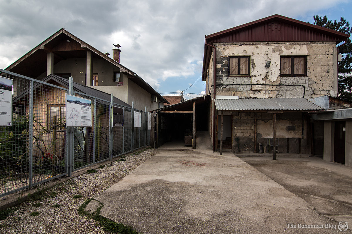 The rear courtyard of the Siege Tunnel Museum in Sarajevo, Bosnia.