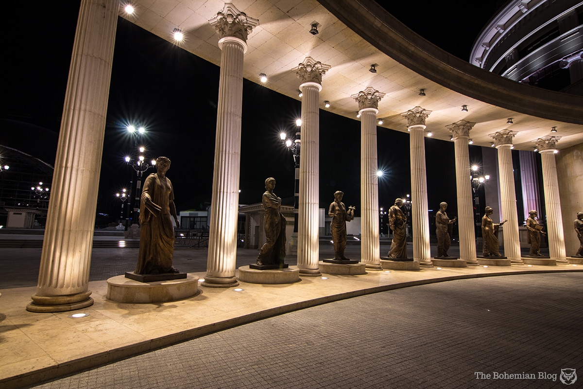 The 'Independent Macedonia' Colonnade. (Price: €1.4 million)