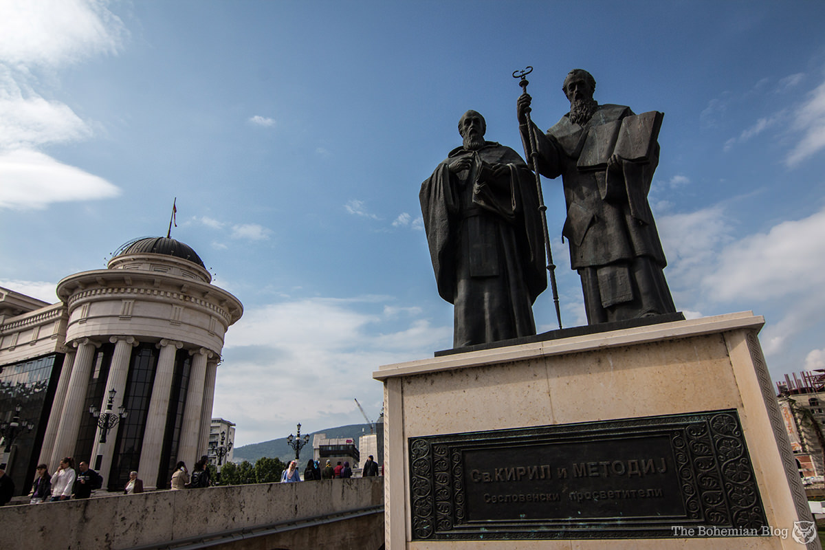 Monument to Saints Cyril and Methodius –Bulgarians, Greeks or Macedonians, depending on who you ask (Price: €664,400).
