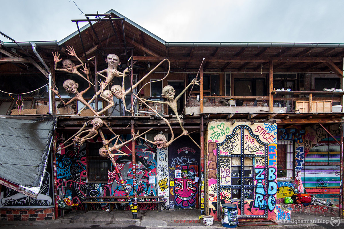 Perhaps my favourite art installation at Metelkova is this bizarre collection of mutant babies.