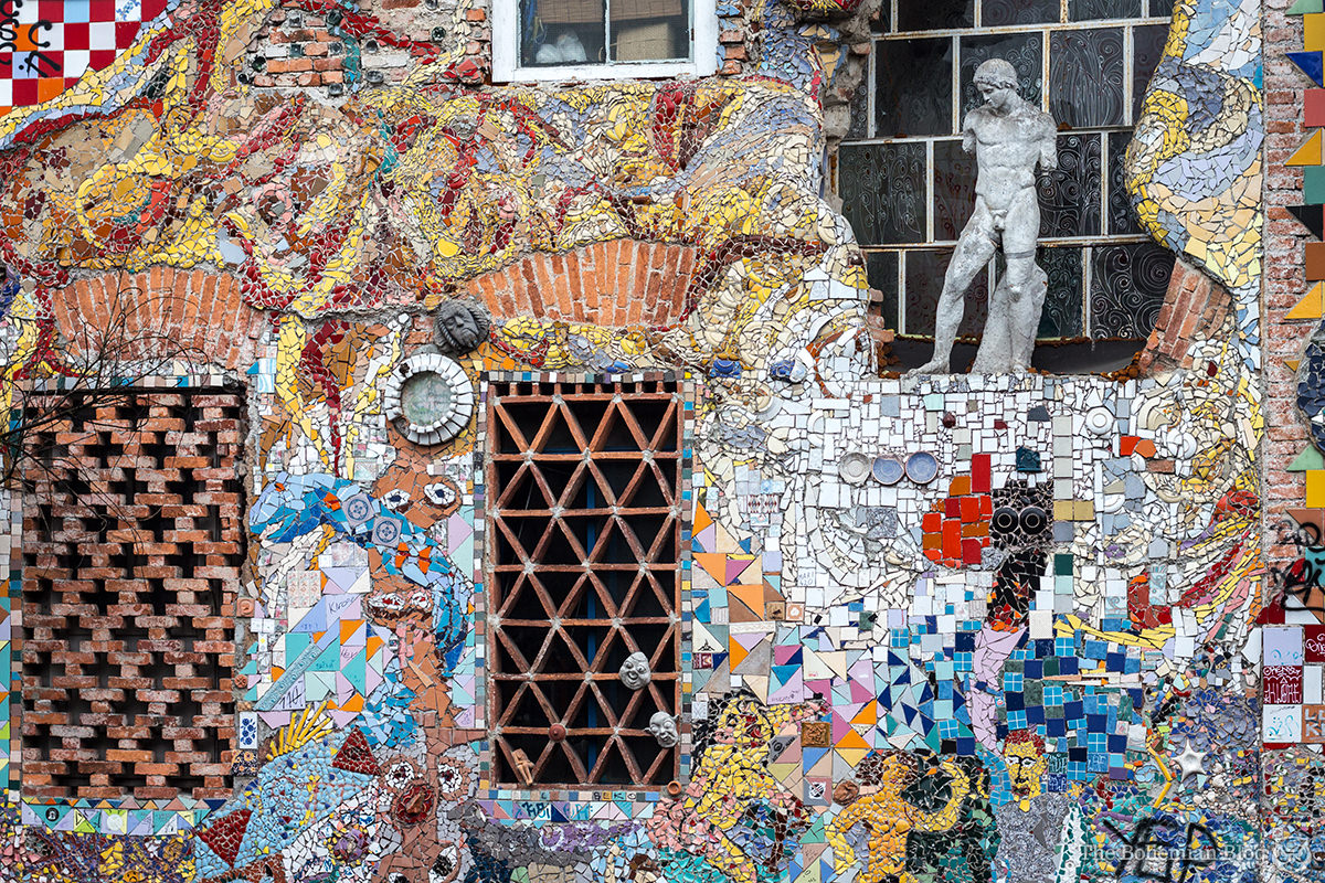 Not all the art here is terrifying. This mosaic wall, for example, was actually rather lovely.
