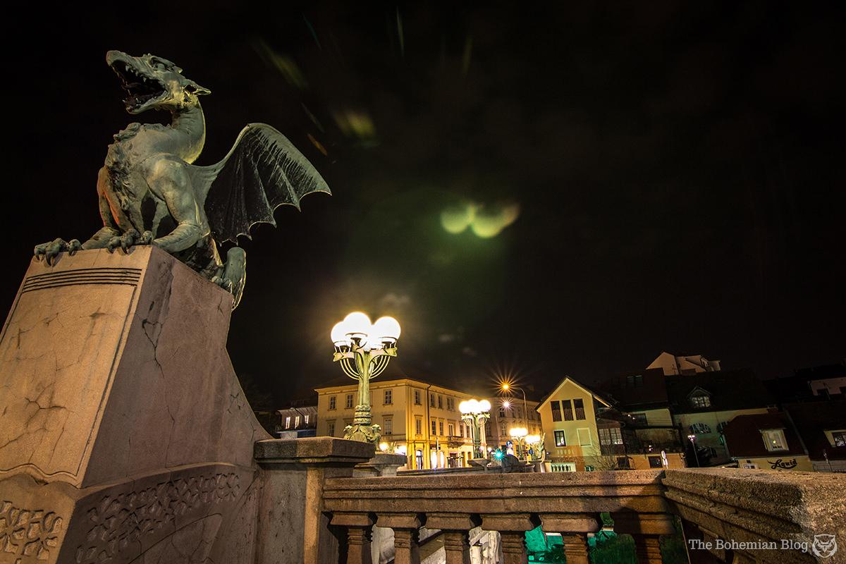 The famous Dragon Bridge of Ljubljana, Slovenia.