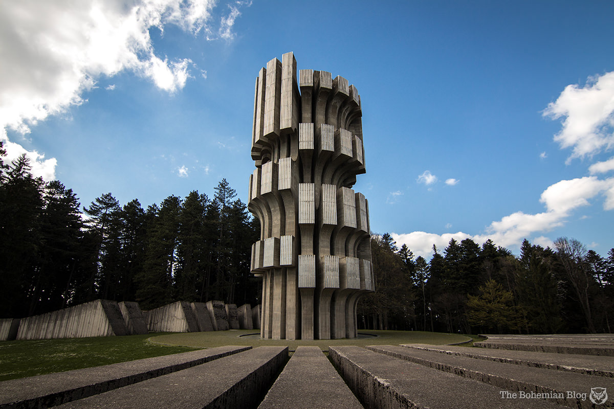 <em>Monument to the Revolution</em> on Mount Kozara, Bosnia & Herzegovina (Dušan Džamonja, 1972).