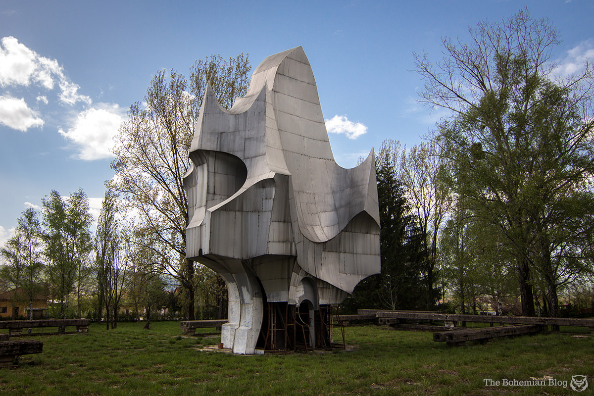 <em>Memorial to the Victims of Fascism</em> at Sanski Most, Bosnia & Herzegovina (Petar Krstić, 1971).