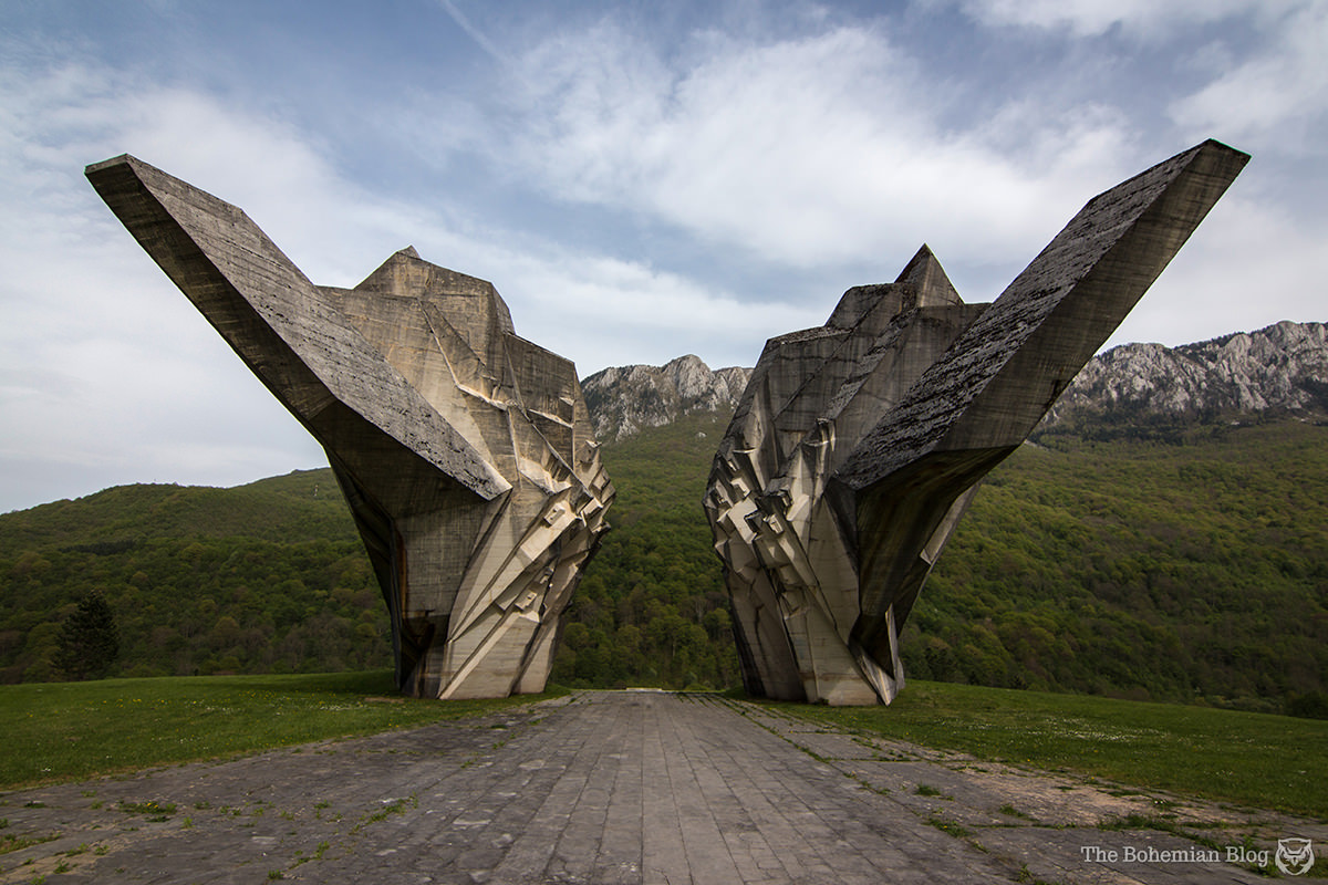 <em>Valley of Heroes Monument</em> at Tjentište, Bosnia & Herzegovina (Miodrag Živković, 1971).