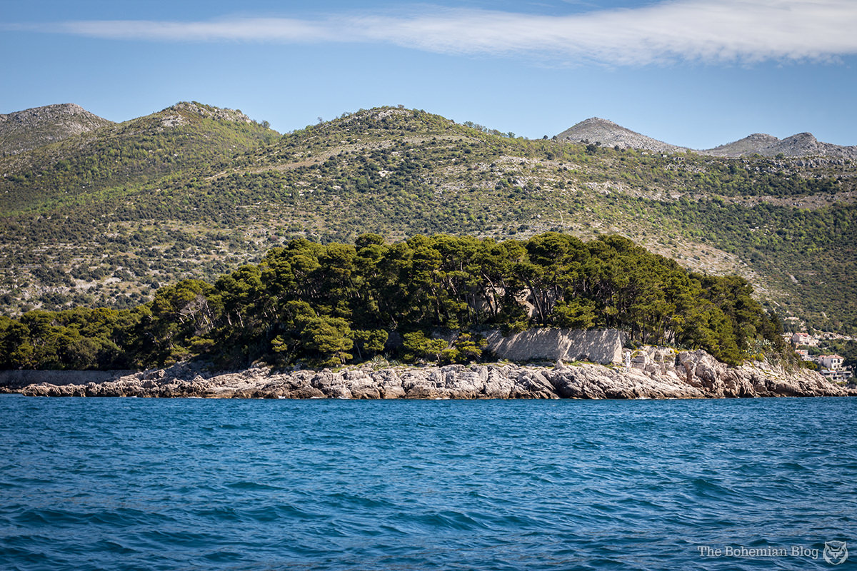 Daksa Island, just off the coast of Dubrovnik, Croatia.