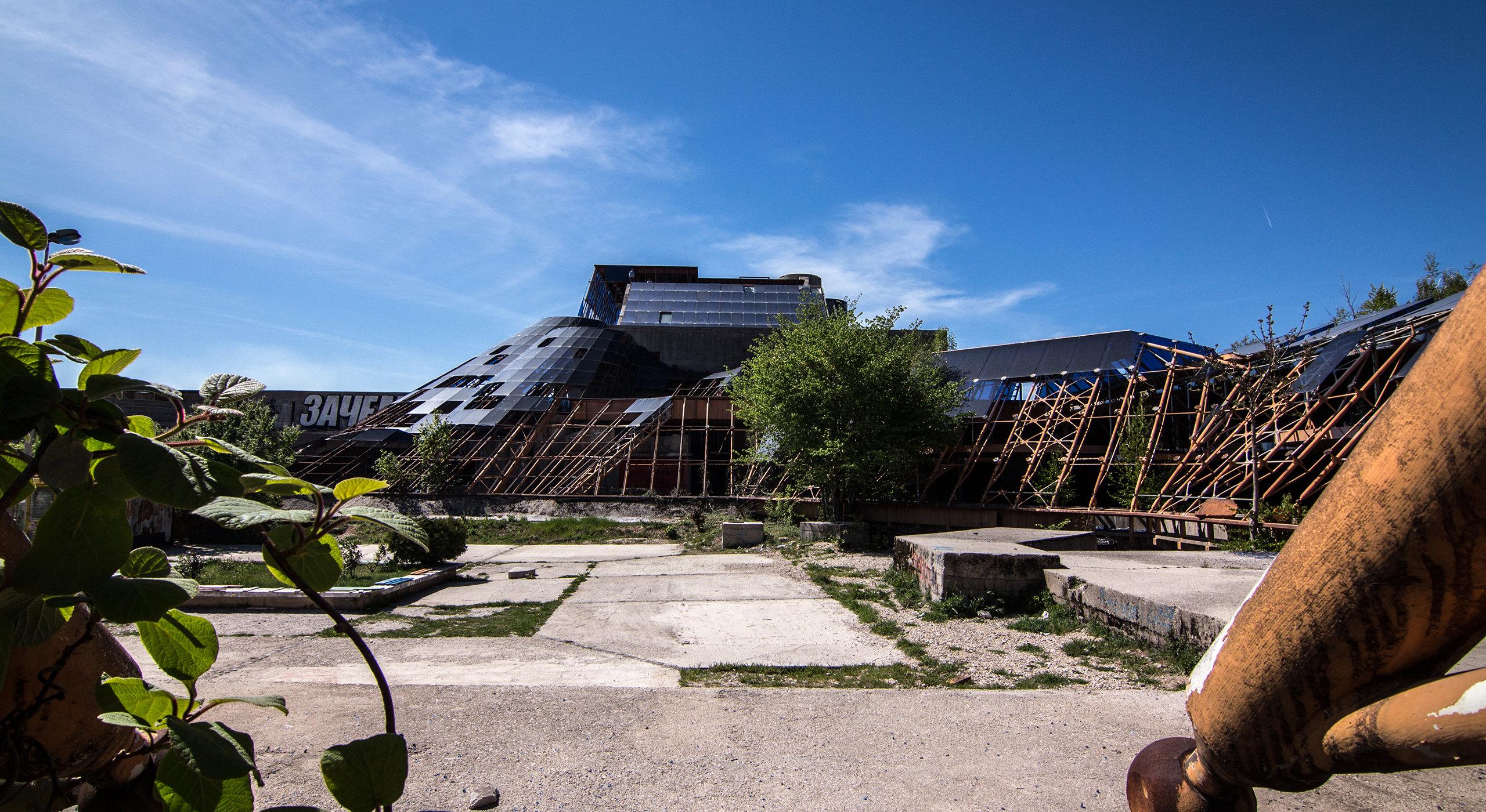 House of Revolution at Nikšić, Montenegro (Marko Mušič, 1976-Unfinished).