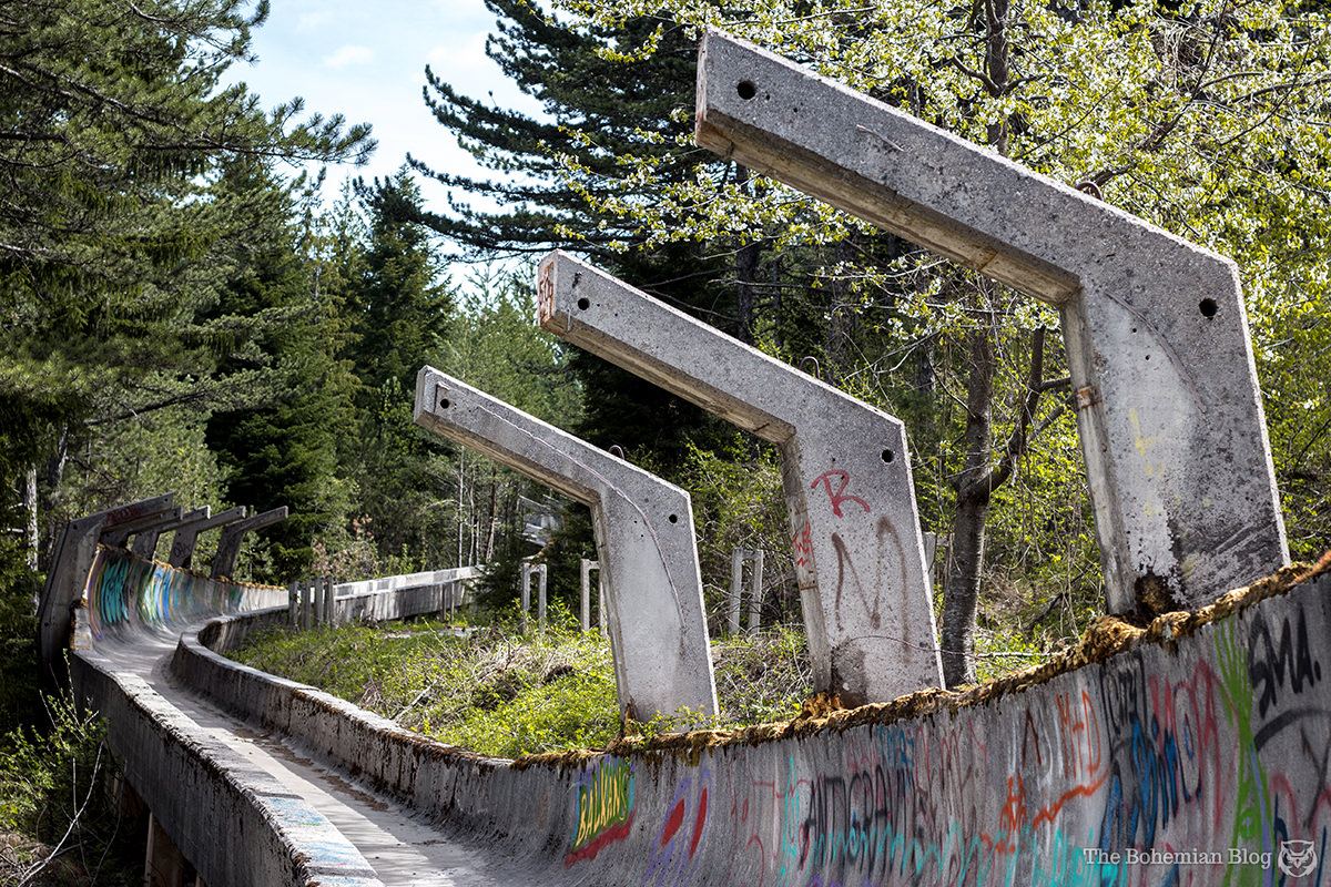These bobsleigh and luge tracks outside Sarajevo were built for the 1984 Winter Olympics, held in Bosnia & Herzegovina.