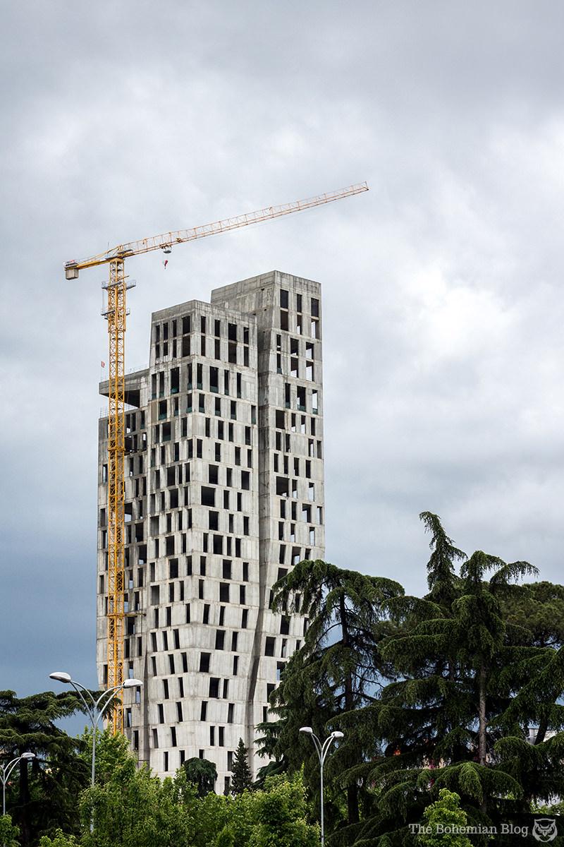 Archaea Tower (unfinished). Tirana, Albania.