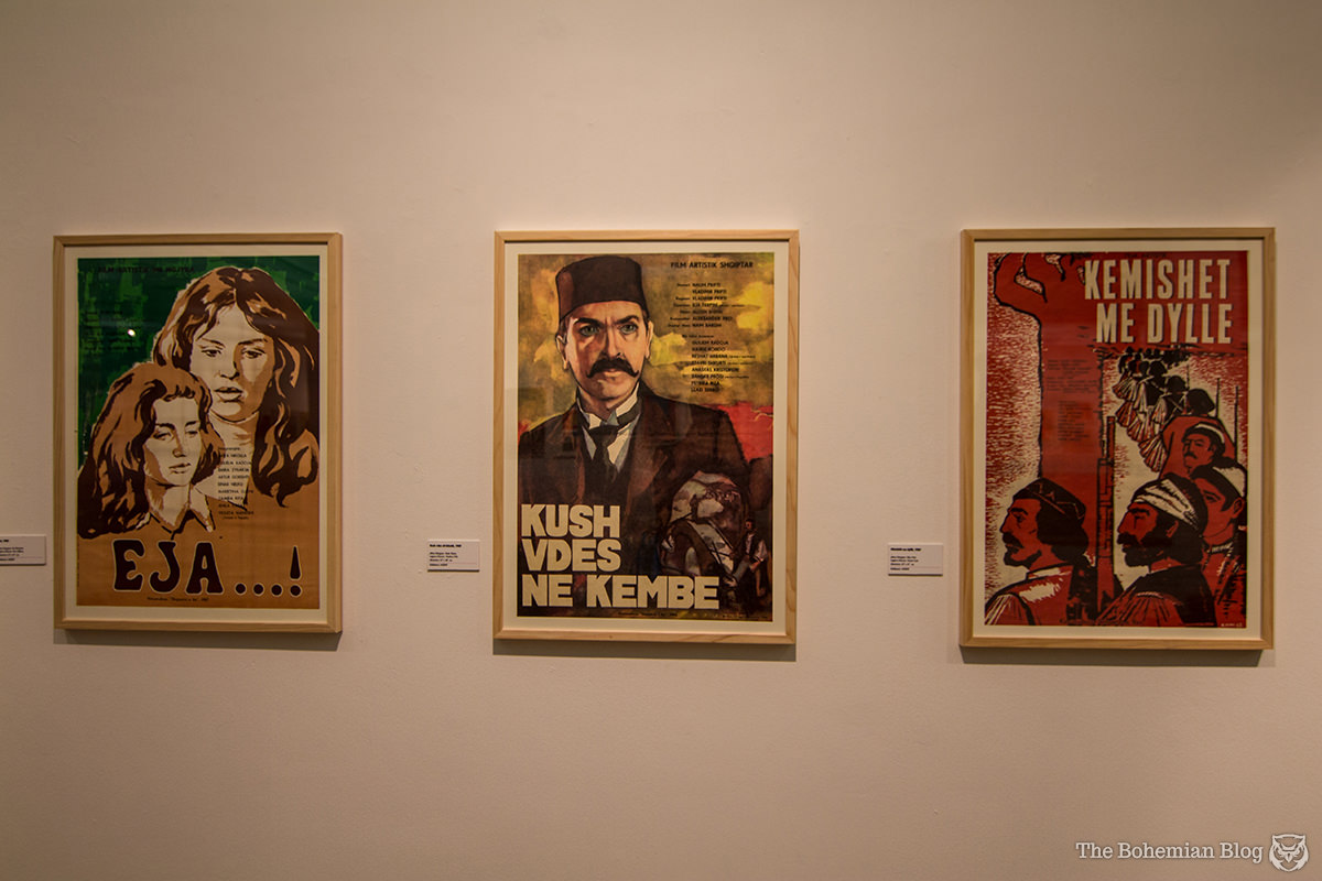 An exhibition of communist-era film posters, at the National Gallery of Arts in Tirana, Albania.