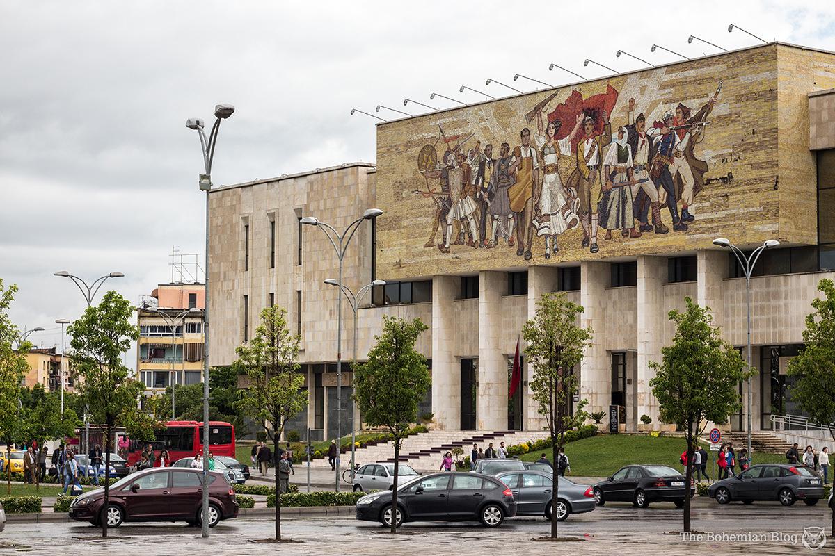 The Albanian National History Museum on Skanderbeg Square, Tirana.