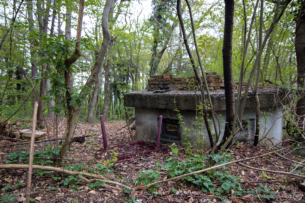 A bunker watches the forest, in what was once the dictator's private estate.