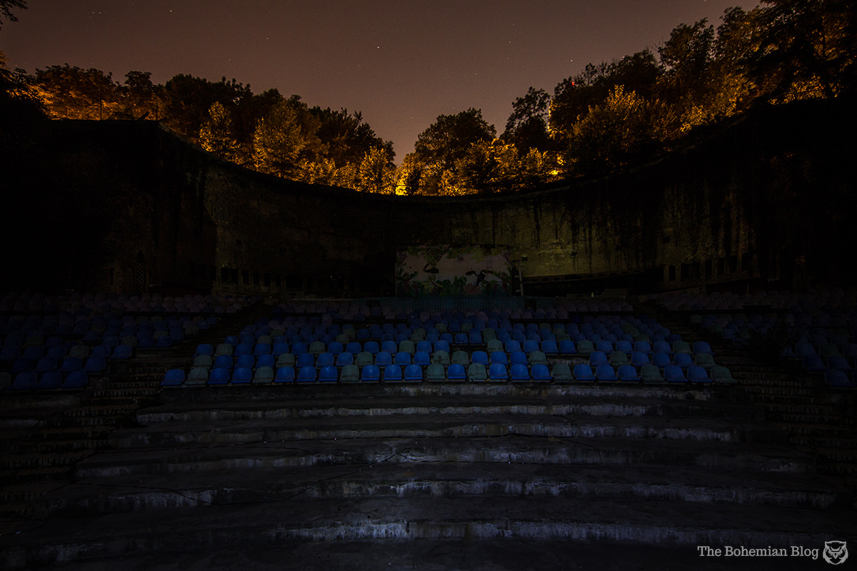 The Green Theatre in Kyiv, as seen from the stage.