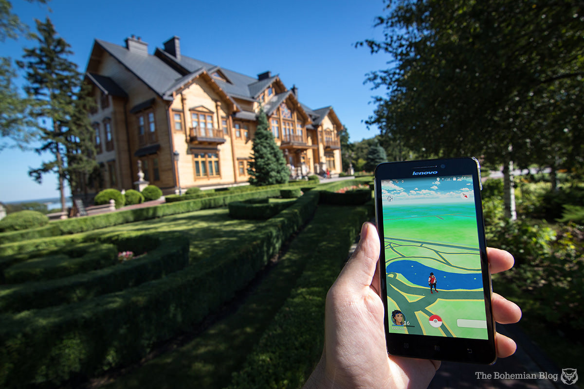 The home of former Ukrainian President Viktor Yanukovych sits in the middle of a Pokémon dead-zone.