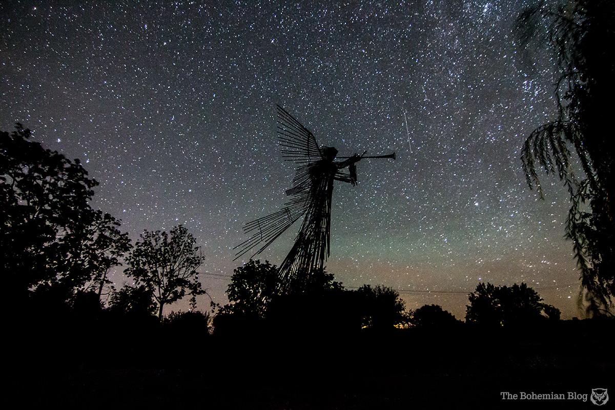 'Third Angel' monument, in Chernobyl, Ukraine.