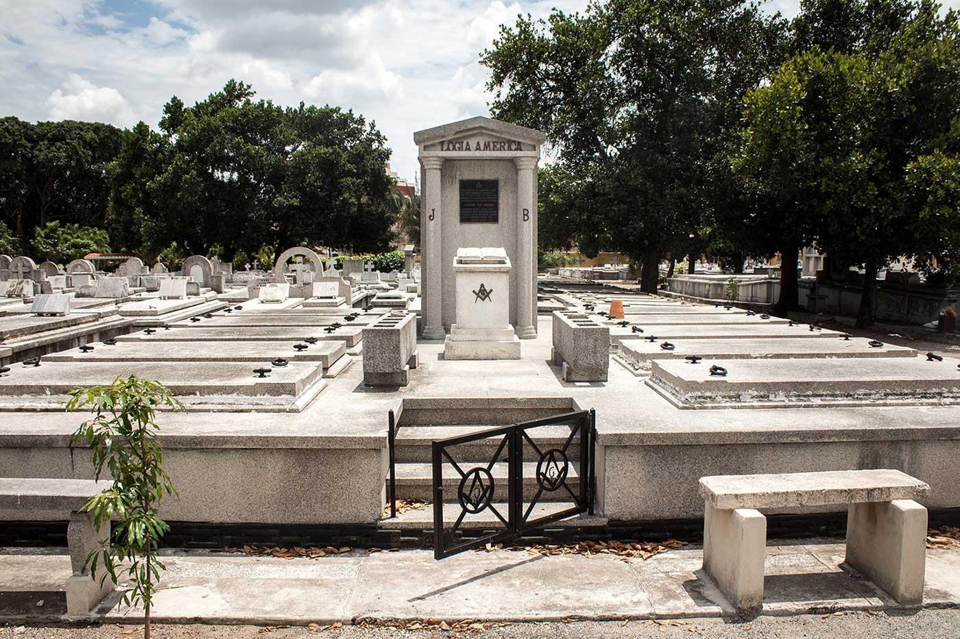 Memorial plot for 'Logia America': Necrópolis Cristóbal Colón, Havana, Cuba.