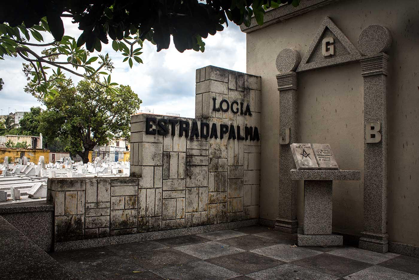 Logia Estrada Palma Mausoleum, at Havana's Colón Necrópolis.