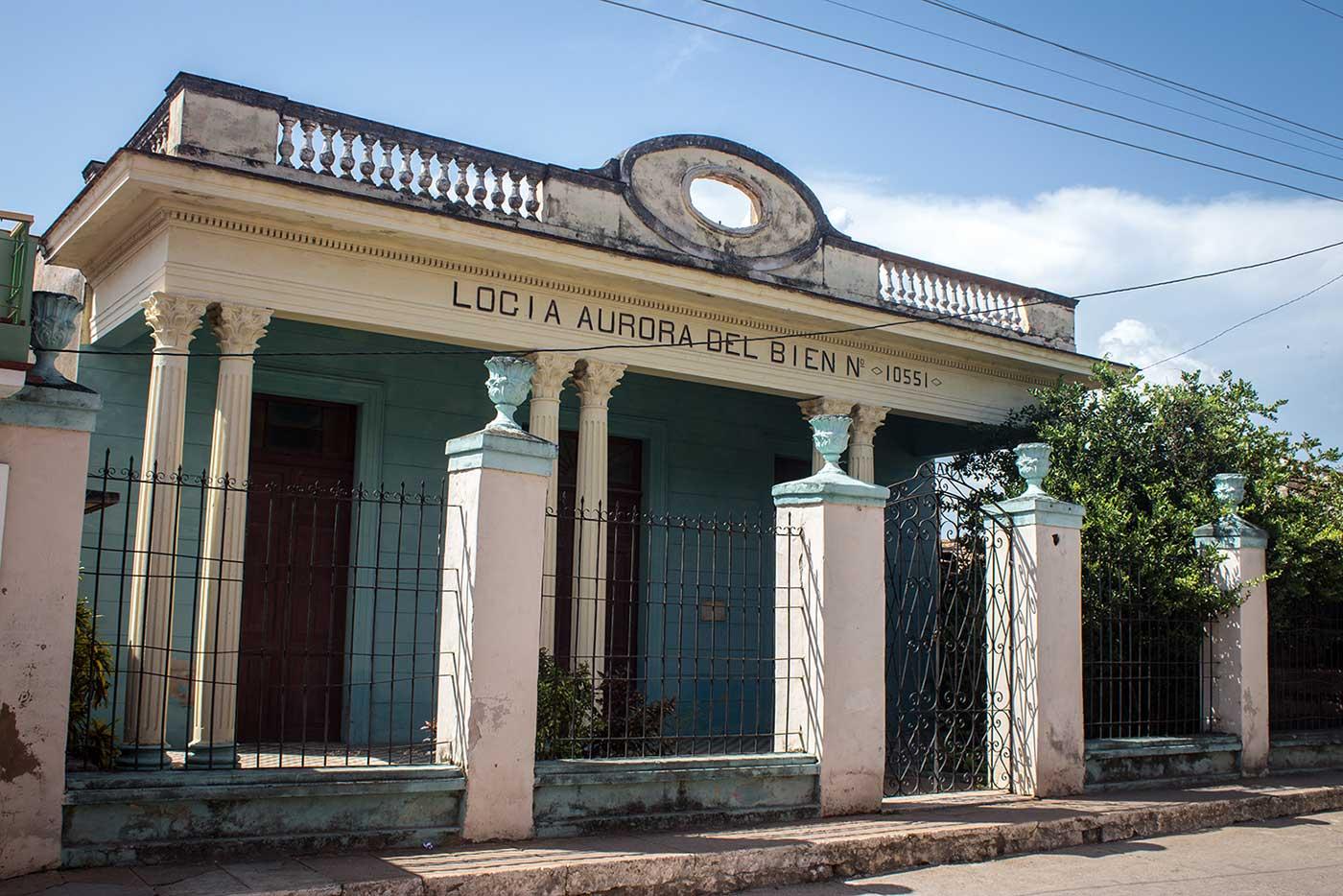 'Logia Aurora del Bien No. 10551,' in Trinidad, Cuba.
