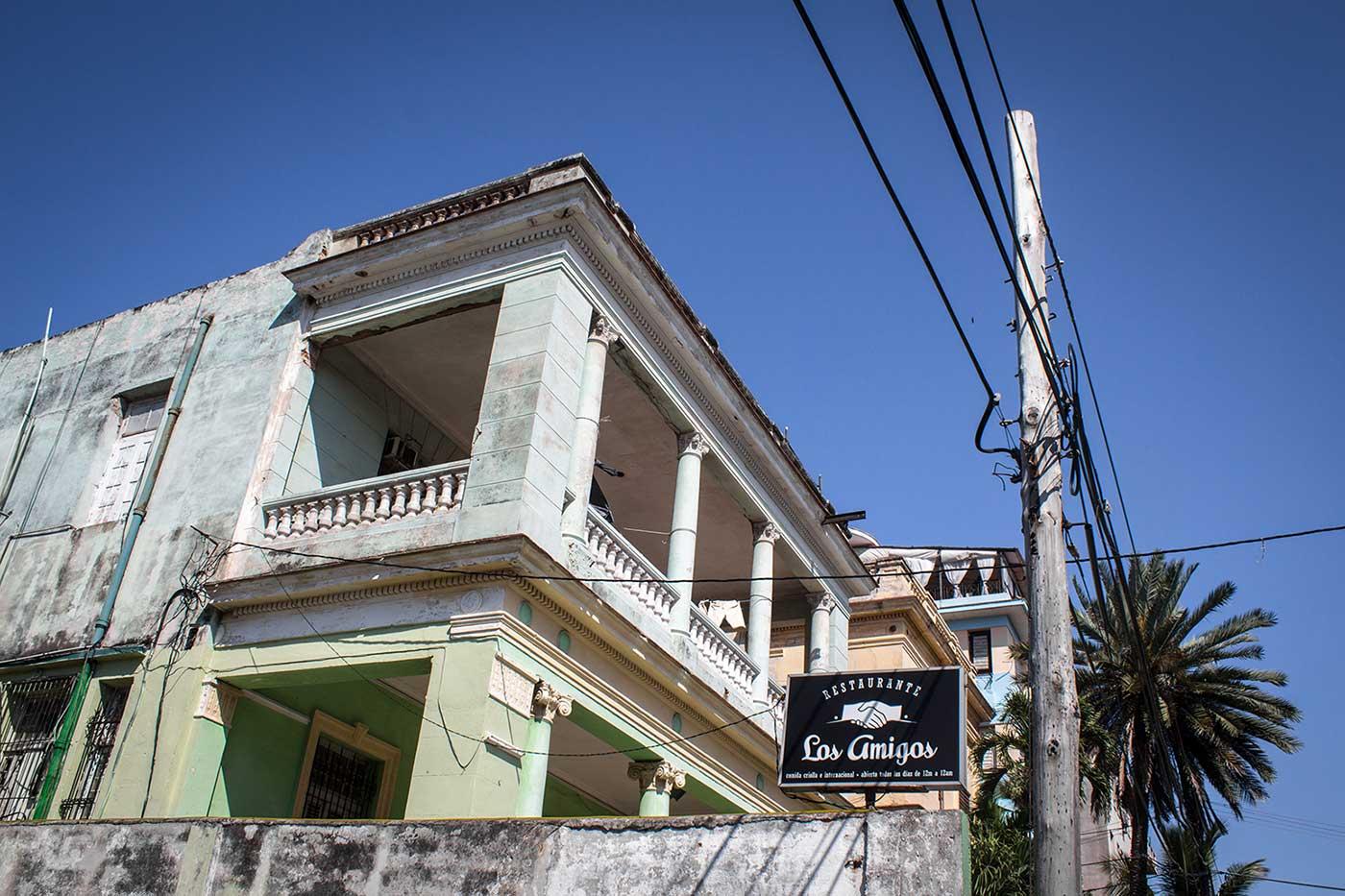 Restaurante 'Los Amigos' in the Vedado district of Havana, Cuba.