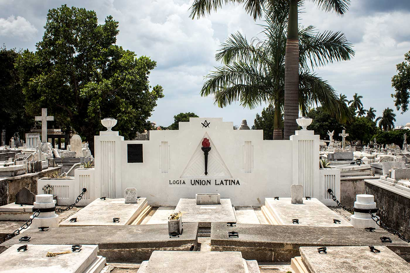 Memorial plot for 'Logia Union Latina': Necrópolis Cristóbal Colón, Havana, Cuba.