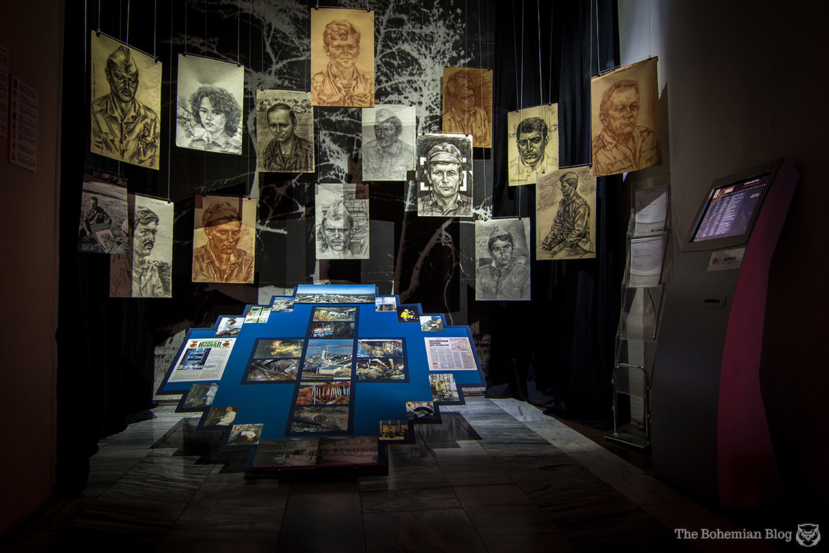 Portraits of workers at the Chernobyl Nuclear Power Plant. Ukrainian National Chernobyl Museum, Kyiv.