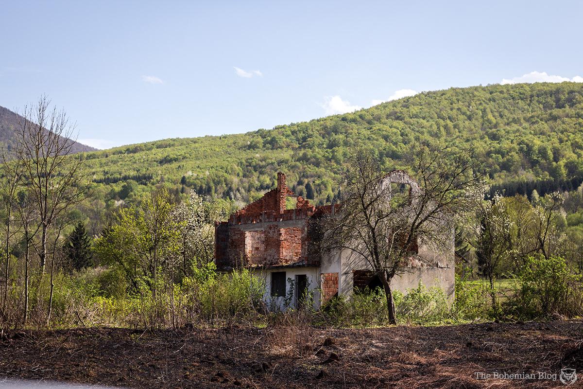 Derelict cottage near Bosanski Petrovac, Bosnia & Herzegovina.