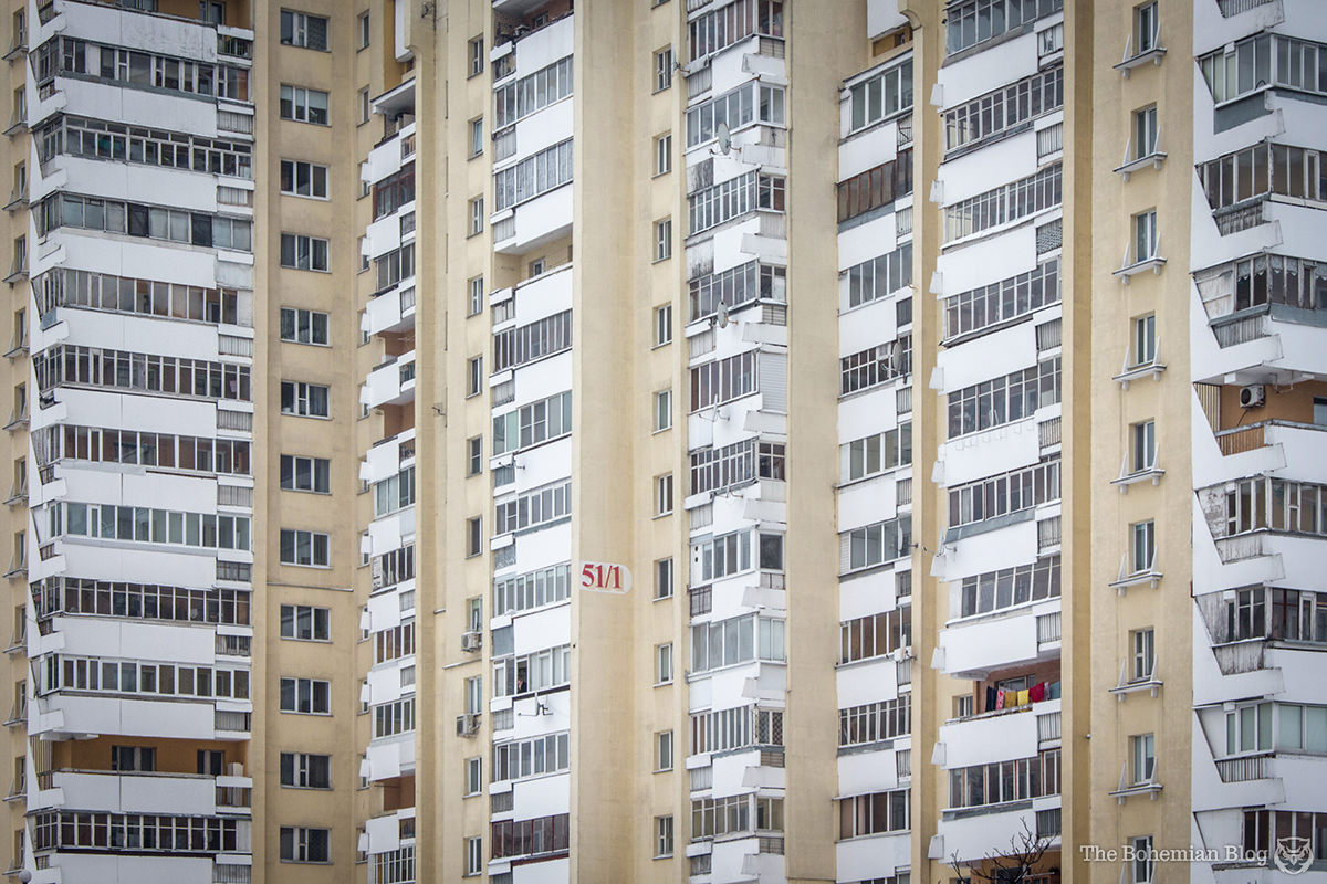 The Soviet-era architecture of Minsk becomes more repetitive further out from the city centre.