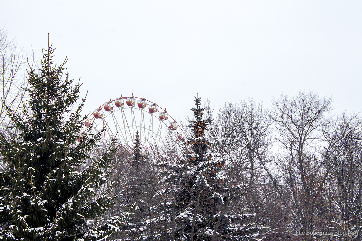 Ferris wheel in Gorky Park, Minsk.