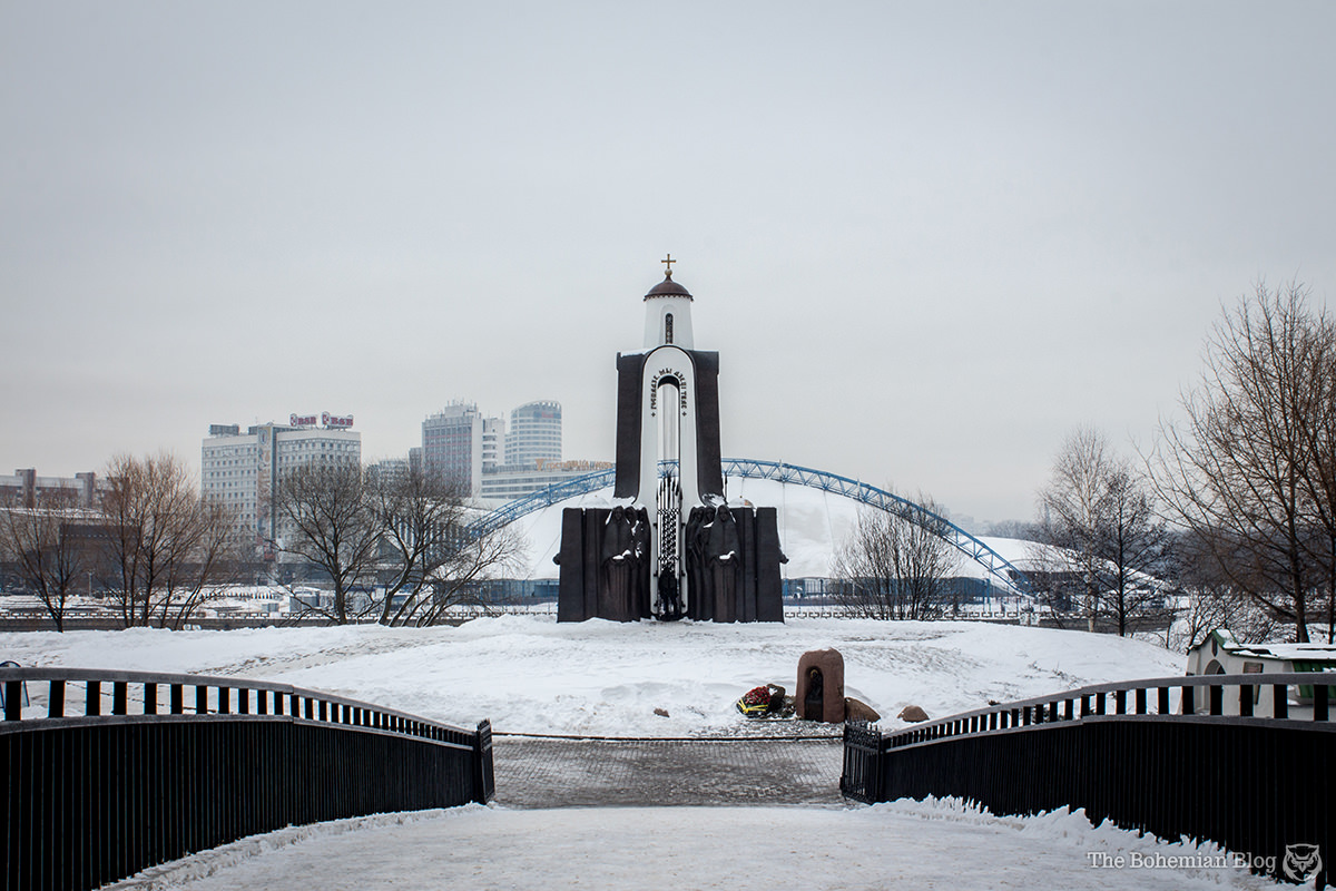 The Island of Tears monument was created in 1988 to commemorate Belarusian soldiers lost in the Afghan War.