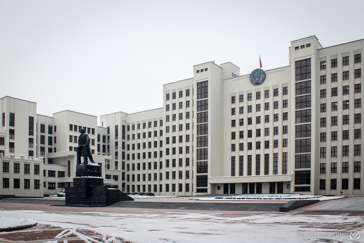 Belarusian Parliament Building (Josef Langbard, 1934), Independence Square, Minsk.