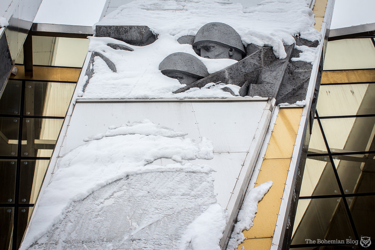 Soldiers and snow: recurring themes throughout my stay in Belarus.