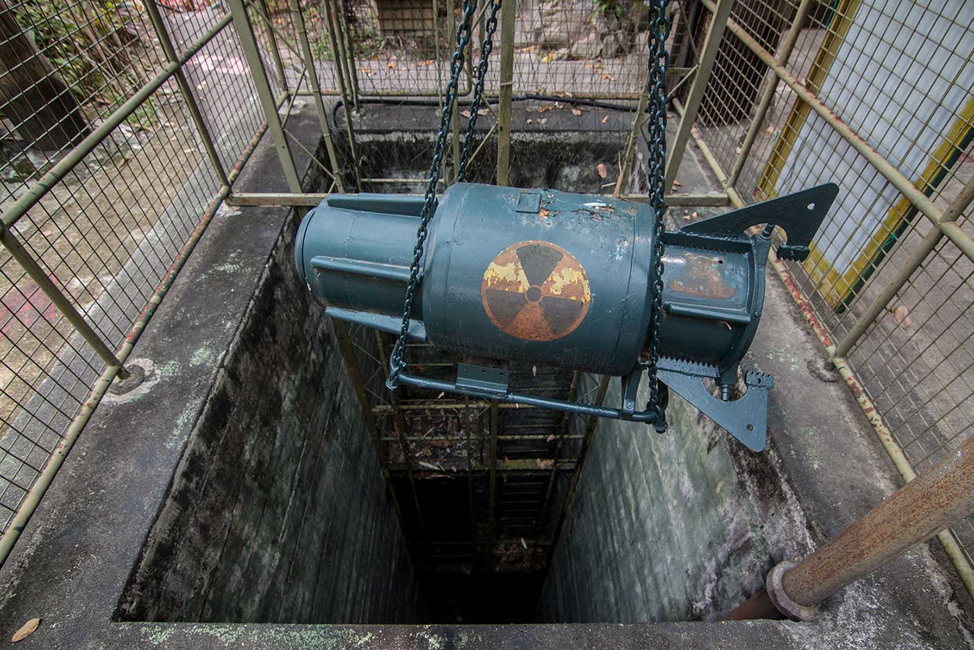 A winch was used to access the fort's explosives dump – located four levels underground.