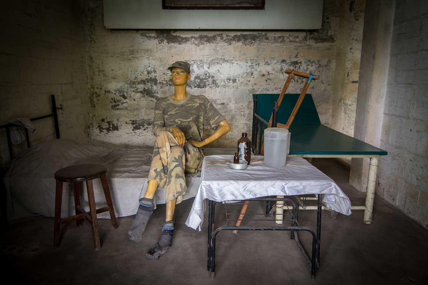 Former infirmary at the Penang War Museum, Malaysia.