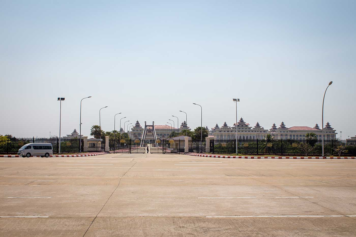 Pyidaungsu Hluttaw is Myanmar's parliament complex. It consists of 31 halls and a 100-room palace, located in the Ministry Zone of Naypyidaw.