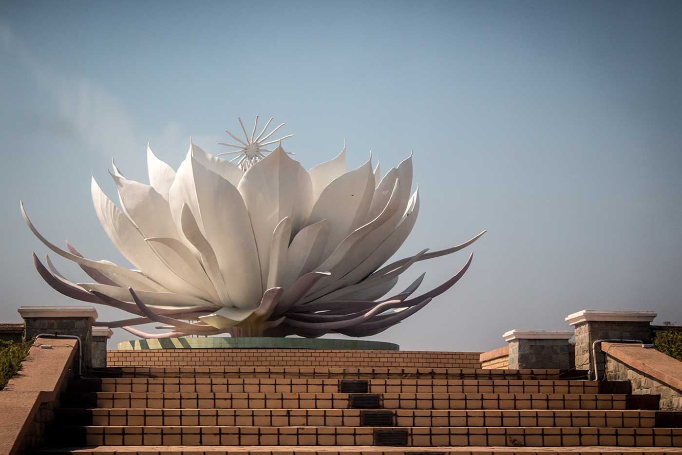The roundabouts in Naypyidaw feature large sculptures that showcase different flowers of the region.